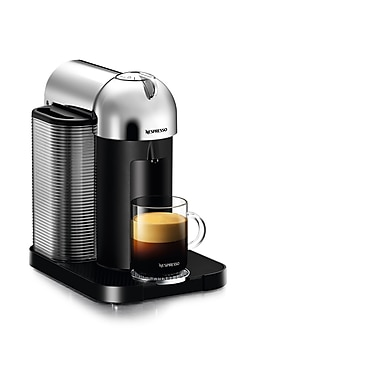 Nespresso - Cafetière Vertuo à portion unique, chrome (GC10CH)