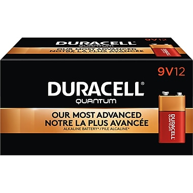 Duracell® Quantum 9V Batteries, 12/Pack