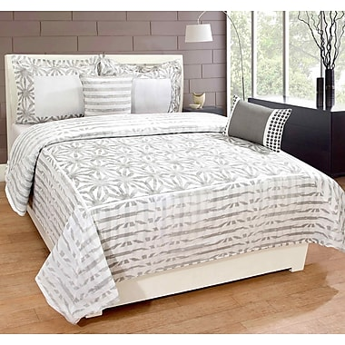 Gracie Oaks Daniels 100pct Cotton 3 Piece Duvet Set; Queen