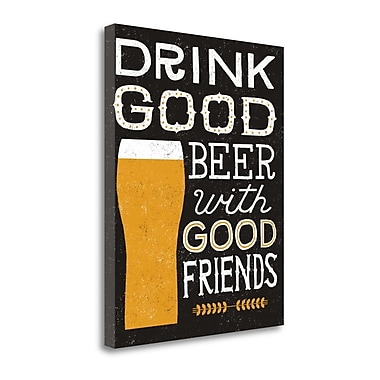 Tangletown Fine Art 'Craft Beer IV' Textual Art on Wrapped Canvas; 32'' H x 26'' W