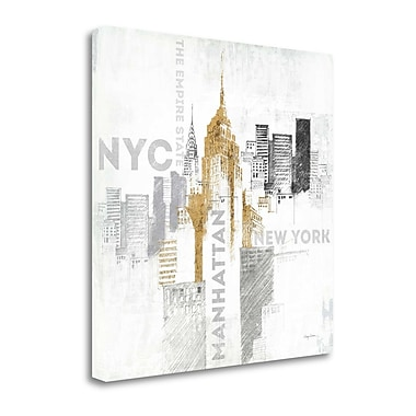 Tangletown Fine Art 'Empire State Building' Graphic Art Print on Wrapped Canvas; 20'' H x 20'' W