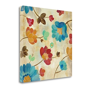Tangletown Fine Art 'Coral and Teal Garden II' by Silvia Vassileva Painting Print on Wrapped Canvas