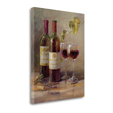 Tangletown Fine Art 'Opening the Wine I' Print on Canvas; 32'' H x 26'' W