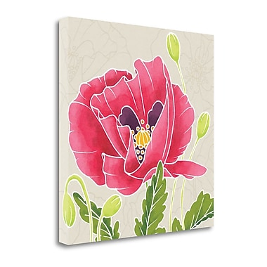 Tangletown Fine Art 'Sunshine Poppies II' by Elyse Deneige Graphic Art on Wrapped Canvas