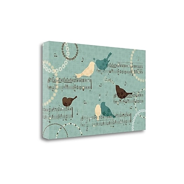 Tangletown Fine Art 'Song Birds III' by Veronique Charron Graphic Art on Wrapped Canvas