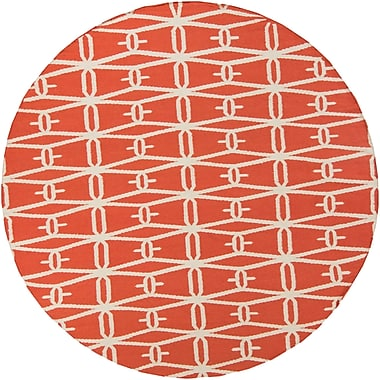 Darby Home Co Kriston Coral Area Rug; Round 8'