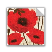 Winston Porter Jackie Poppies I Wall Decal; 10'' H x 10'' W x 0.1'' D