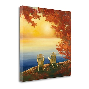 Tangletown Fine Art 'Autumn Glow II' by Julia Purinton Painting Print on Wrapped Canvas