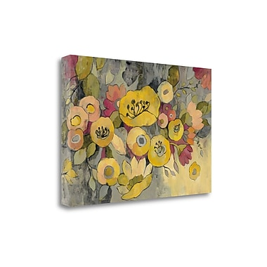 Tangletown Fine Art 'Yellow Floral Duo III' by Silvia Vassileva Painting Print on Wrapped Canvas