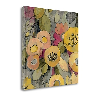 Tangletown Fine Art 'Yellow Floral Duo II' by Silvia Vassileva Painting Print on Wrapped Canvas