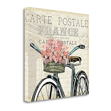 Tangletown Fine Art 'Paris Ride II' by Pela Studio Graphic Art on Wrapped Canvas; 35'' H x 35'' W
