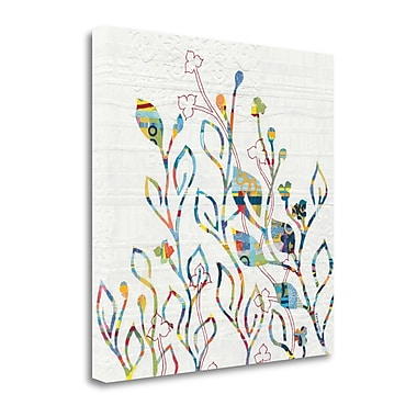 Tangletown Fine Art 'Rainbow Vines w/ Flowers' Graphic Art Print on Canvas; 35'' H x 35'' W