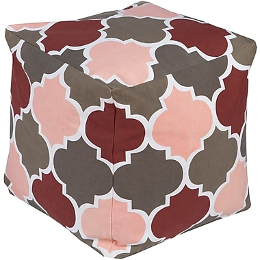 Harriet Bee Chelsie Square Pouf Ottoman; Charcoal