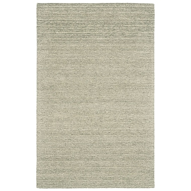 Gracie Oaks Glenn Hand-Tufted Smoke Area Rug; 3'6'' x 5'6''