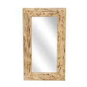 Union Rustic Rectangle Wood Accent Mirror; 34'' H x 20'' W x 2'' D