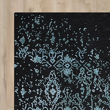 Darby Home Co Hadley Blue/Black Area Rug; Runner 2'3'' x 8'