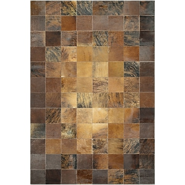 Williston Forge Easthampton Hand-Woven Brown Area Rug; 8' x 11'