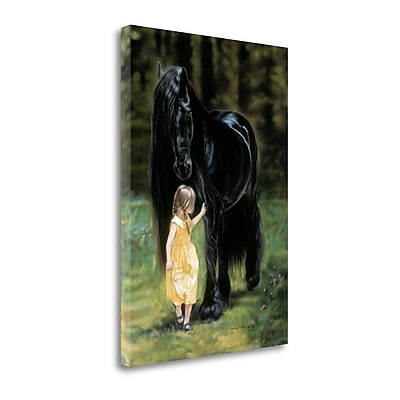 Tangletown Fine Art 'Back to The Barn' Print on Canvas; 28'' H x 20'' W