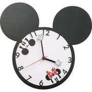 Vandor Disney Mickey and Minnie Mouse Shaped Decorative Wall Clock