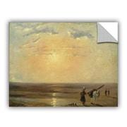 Charlton Home Walbridge The Beach at Trouville w/ Setting Sun Wall Decal; 14'' H x 18'' W x 0.1'' D
