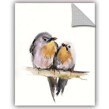 Charlton Home Wakeman Bird Couple Wall Decal; 18'' H x 14'' W x 0.1'' D