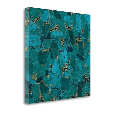 Tangletown Fine Art 'Gilded Stone Turquoise' Graphic Art Print on Canvas; 20'' H x 20'' W