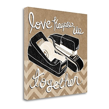 Tangletown Fine Art 'Love Keeps Us Together Taupe' by Mary Urban Graphic Art on Wrapped Canvas