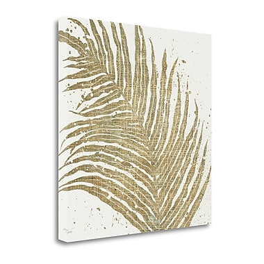 Tangletown Fine Art 'Gold Leaves I' Print on Canvas; 30'' H x 30'' W
