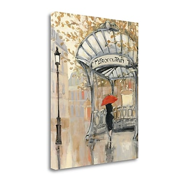 Tangletown Fine Art 'To the Metro III' by Julia Purinton Painting Print on Wrapped Canvas