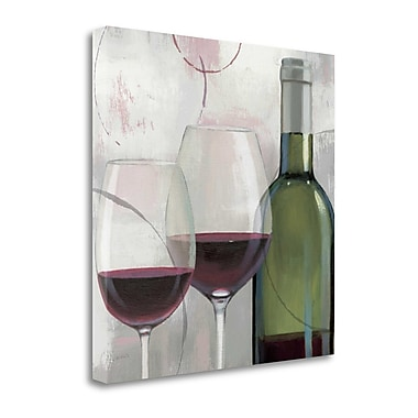 Tangletown Fine Art 'Taste Appeal Red II' by James Wiens Painting Print on Wrapped Canvas
