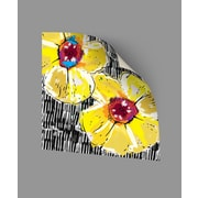 ArtWall Yellow Poppies Wall Decal; 14'' H x 14'' W x 0.1'' D