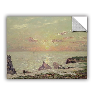 ArtWall The Cliffs at Belle Ile Wall Decal; 14'' H x 18'' W x 0.1'' D