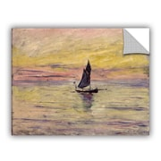 ArtWall The Sailing Boat Evening Effect Wall Decal; 18'' H x 24'' W x 0.1'' D