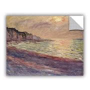 ArtWall The Beach at Pourville Setting Sun Wall Decal; 18'' H x 24'' W x 0.1'' D