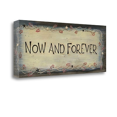Tangletown Fine Art Now and Forever' Textual Art on Wrapped Canvas; 13'' H x 32'' W