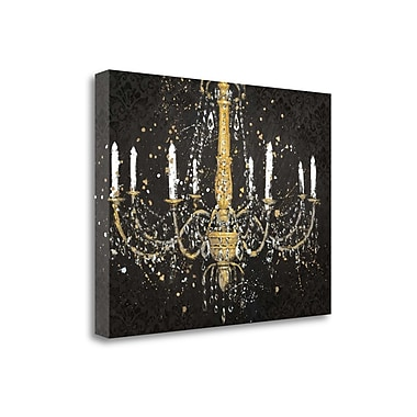 Tangletown Fine Art 'Grand Chandelier Black I' by James Wiens Painting Print on Wrapped Canvas