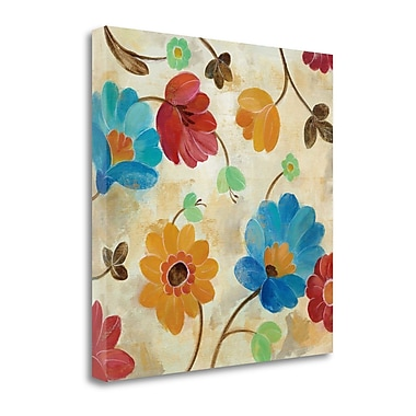 Tangletown Fine Art 'Coral and Teal Garden I' by Silvia Vassileva Painting Print on Wrapped Canvas
