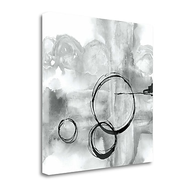 Tangletown Fine Art 'Full Circle II Gray' by Chris Paschke Painting Print on Wrapped Canvas