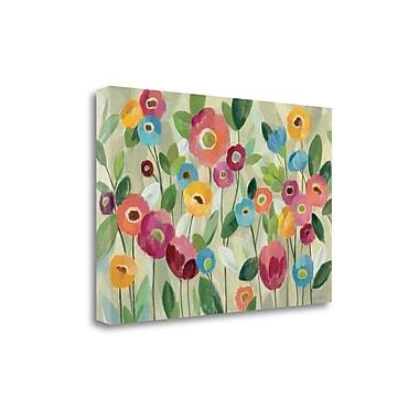Tangletown Fine Art 'Fairy Tale Flowers V' Print on Canvas; 20'' H x 29'' W