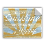 August Grove Clotilde Hello Sunshine Wall Decal; 24'' H x 32'' W x 0.1'' D