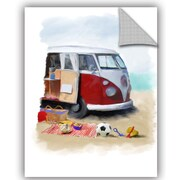 Highland Dunes Caines Beach Van Wall Decal; 32'' H x 24'' W x 0.1'' D