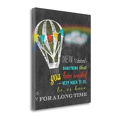 Tangletown Fine Art Dream' Textual Art on Wrapped Canvas; 23'' H x 19'' W