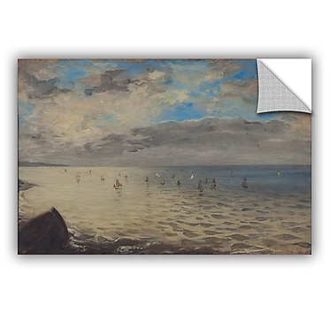 ArtWall Sea Viewed from the Heights of Dieppe Wall Decal; 12'' H x 18'' W x 0.1'' D