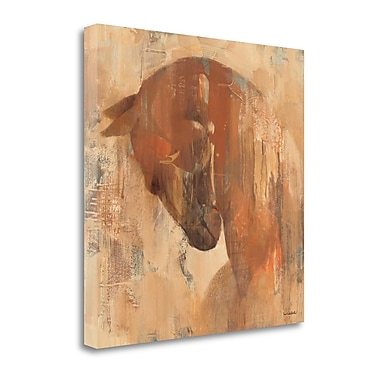 Tangletown Fine Art 'Charger' by Albena Hristova Painting Print on Wrapped Canvas; 25'' H x 25'' W