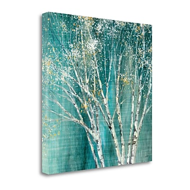 Tangletown Fine Art 'Blue Birch' by Julia Purinton Painting Print on Wrapped Canvas; 25'' H x 25'' W