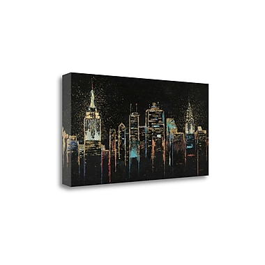Tangletown Fine Art 'Cityscape' by Wiens James Painting Print on Wrapped Canvas; 24'' H x 48'' W
