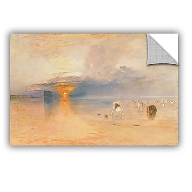ArtWall Calais Sands at Low Water, Poissards Gathering Bait Wall Decal; 24'' H x 36'' W x 0.1'' D