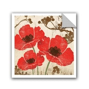 Winston Porter Jackie Poppies Wall Decal; 10'' H x 10'' W x 0.1'' D