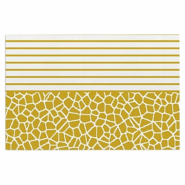 East Urban Home 'Staklo' Doormat; Gold/White