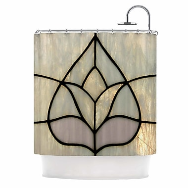 East Urban Home 'Tulip Stained Glass' Digital Shower Curtain